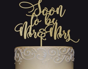 Rustic Wedding Cake Topper - Personalized Monogram Cake Topper - Soon to be Mr Mrs Cake Topper- Keepsake Wedding Cake Topper