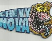 "OFFICIALLY LICENSED ED ""Big Daddy"" Roth Rat Fink Chevy Nova Hot Rod Racer Patch"