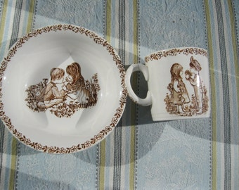 Meakin  Childs Cup and Bowl vintage 1945