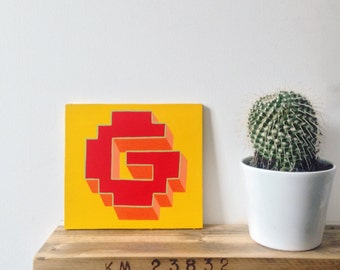 Letter G - Hand Painted Alphabet Sign