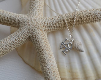 Sterling Silver LOVE Shell Necklace