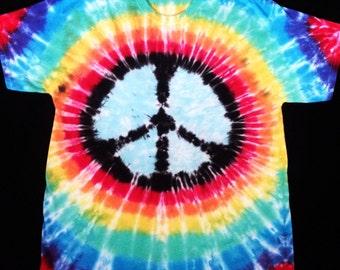 Tie-Dye peace sign t-shirt - Rainbow
