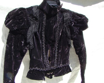 Victorian Black Velvet Jacket