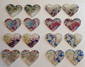 Floral pattern heart cabs