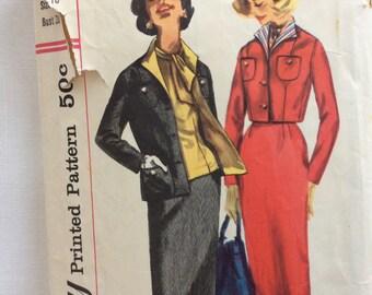 Simplicity 2133 misses blouse, suit jacket & skirt size 18 bust 38 waist 30 vintage 1950's sewing pattern