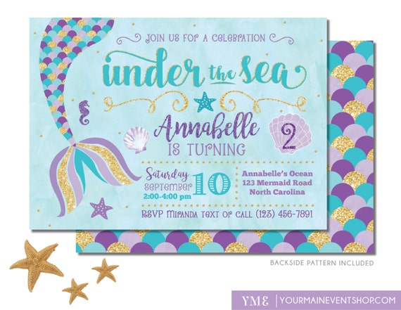 mermaid invites printable Klisethegreaterchurchco