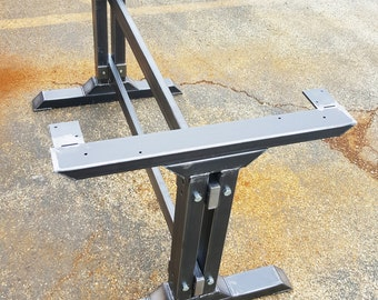 Stylish Dining Table  Legs, Model #010, Industrial Kitchen Table Legs with 2 Brace