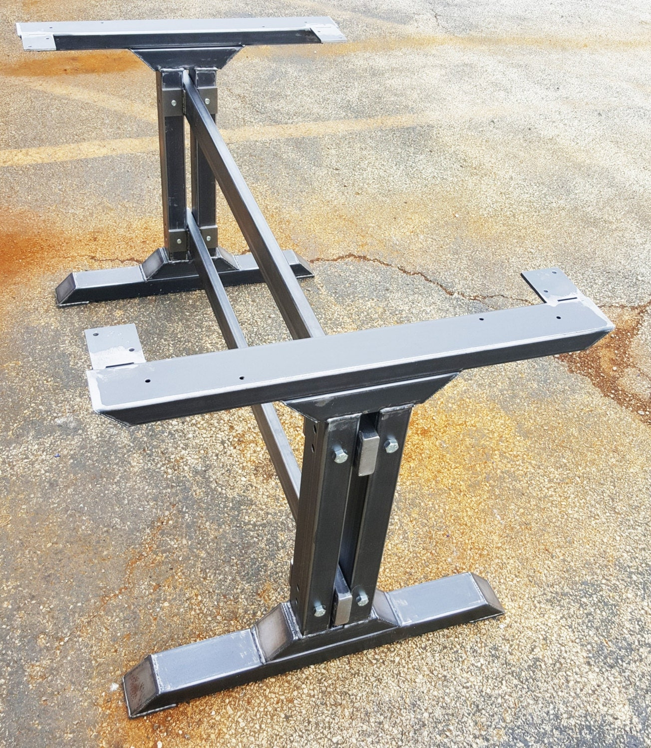 Stylish dining table legs model 010 industrial kitchen - Kitchen table bases ...