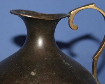 Vintage Potbelly Bronze Pitcher