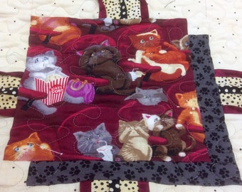 "Lap Quilt, Cat,Lover, ""Scaredy Cats"","