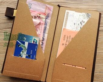 Card holder Kraft organizer Kraft Card Holder for Midori Travelers Notebook B07