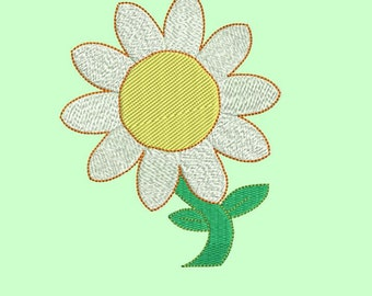 Daisies Embroidery Design 3 SIZES / INSTANT DOWNLOAD 4x4 5x7 6x10
