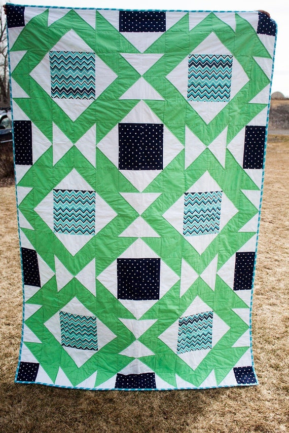 Southwest Dance/pattern/quilt pattern pdf/modern quilt pattern/instant download/twin size ...