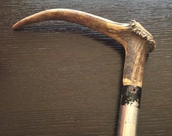 Vintage Elk Antler Handle Stocknagel Walking Cane Stick