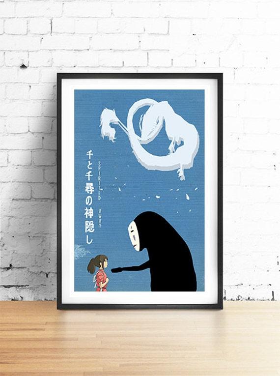 SPIRITED AWAY Miyazaki Inspired Minimalist Movie Poster