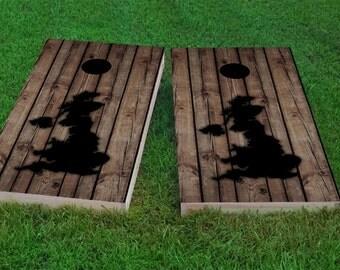 Wood United KingdomThemed 2x4 Custom Cornhole Board Set with bags | Custom Corn Hole | Bag Toss | Corn Toss | Bean Bag Toss