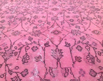 Over dyed Vintage Pink Rug