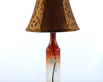Milagro Reposado Recycled Liquor Bottle Lamp