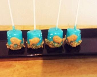 Goldfish Marshmallow Pops