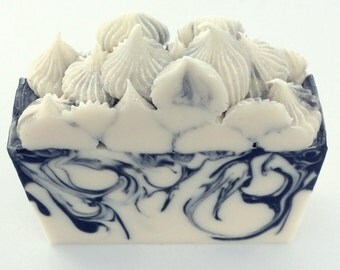 Patchouli Soap - Hippie Soap - Handcrafted Soap - Boho - Decorative Soap - Cold Process Soap - Homemade Soap - Black and White Soap