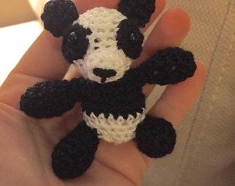 Mini Crocheted Panda (2.5in)