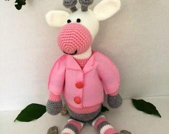 Knitted Giraffe Doll