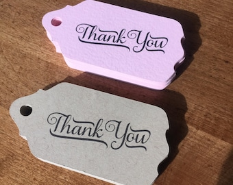 12 Thank You Gift Tags, Paper and Party Supplies, Tags