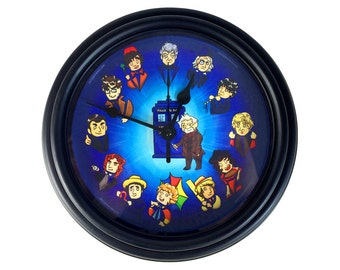 Dr. Who - The Twelve Doctors - Wall Clock