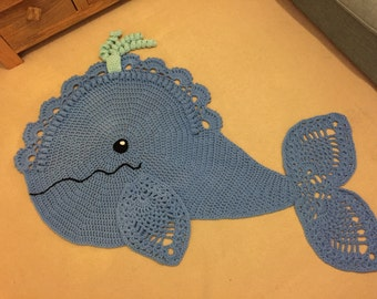 Crochet Whale Rug