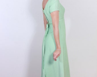 1960s Emma Domb Green Coctail Dress