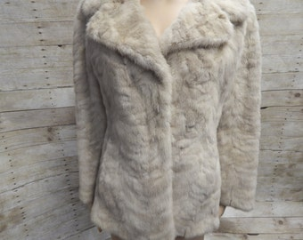 Price Reduced Christian Dior Blond Ribbed Mink Jacket - Waist length