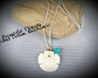 Sand Dollar Necklace, Genuine Florida Sand Dollar, Beach Necklace 16 inch