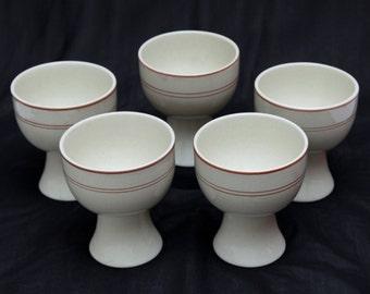 Vintage ROYAL DOULTON 'Nutmeg' (LS1036) - Goblets x 5