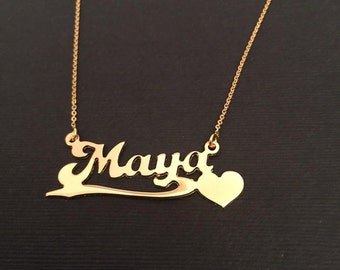 Name Necklace, Personalized Name Necklace, Gold Nameplate, Daughter Gift, Best gift for girls, Gift for her,name jewelry, birthday gift