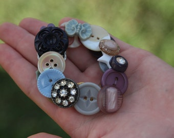 Custom-made Vintage Button Bracelet: The Biddle