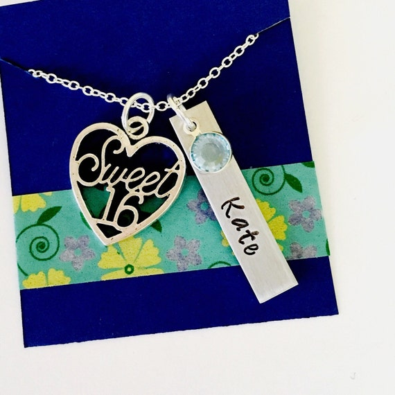 Sweet Sixteen Necklace 16th Birthday Necklace Sweet Sixteen