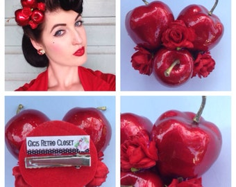 Candy Apple Hairflower