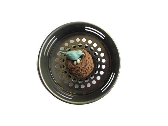 Sink strainer water plug bird decor bird item by accessoriesbyash - Decorative kitchen sink strainers ...
