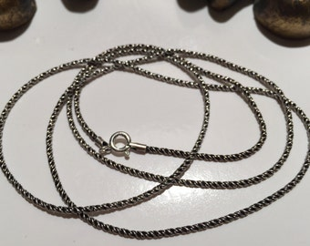 24 inch Sterling Silver Chain-Sterling Silver Rope Chain-Handmade oxedized Vintage Style Chain-Antique Look-Dark Chain-Chain Necklace
