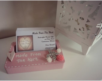 Personalised Wooden Business Card Holder