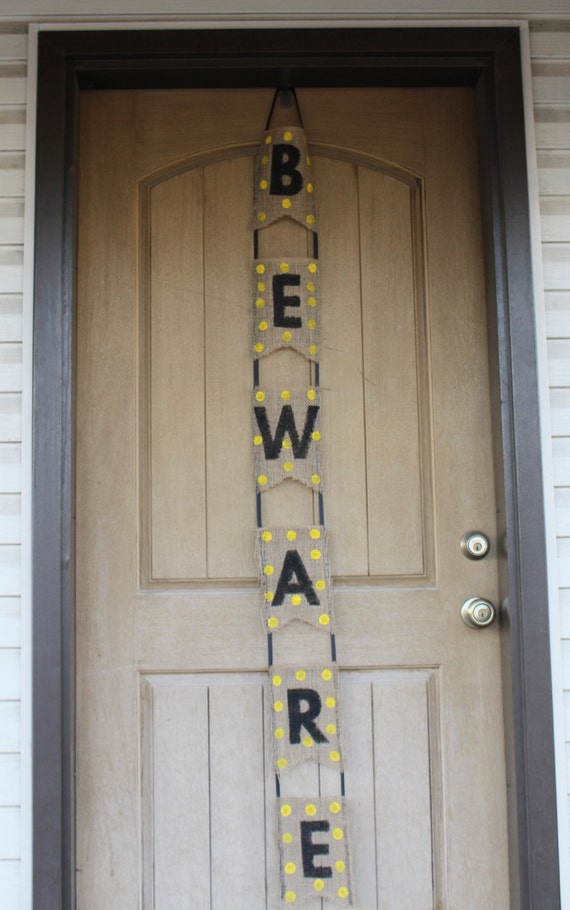 Beware Door Banner, Halloween Banner, Halloween decoration
