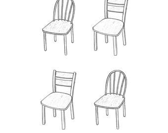 chair print
