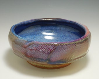 294 - Bowl, Cereal, Soup, Serving, Wheel Thrown Stoneware, Colorful