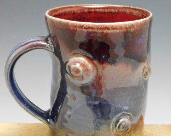 297 - Mug, Coffee Cup, Tea Cup, Wheel Thrown Stoneware, 16 oz.
