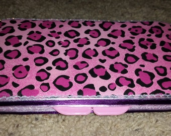 Pink Cheetah Diaper Wipe Case