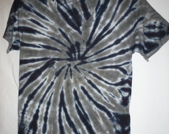 Black and Grey Tie Dyed Shirt