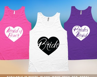 Bride Tank Top - Bachelorette Party Shirts, Bachelorette Shirts, Girls Night Out party, wedding day tanks, Bride To Be Tank Top Bride CT-504