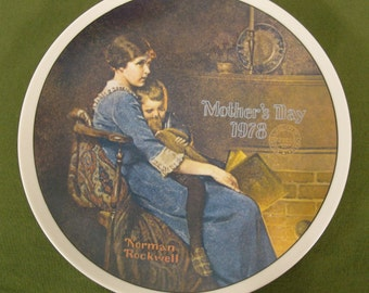 Norman Rockwell Fine China Mother's Day Plate – Bedtime 1978