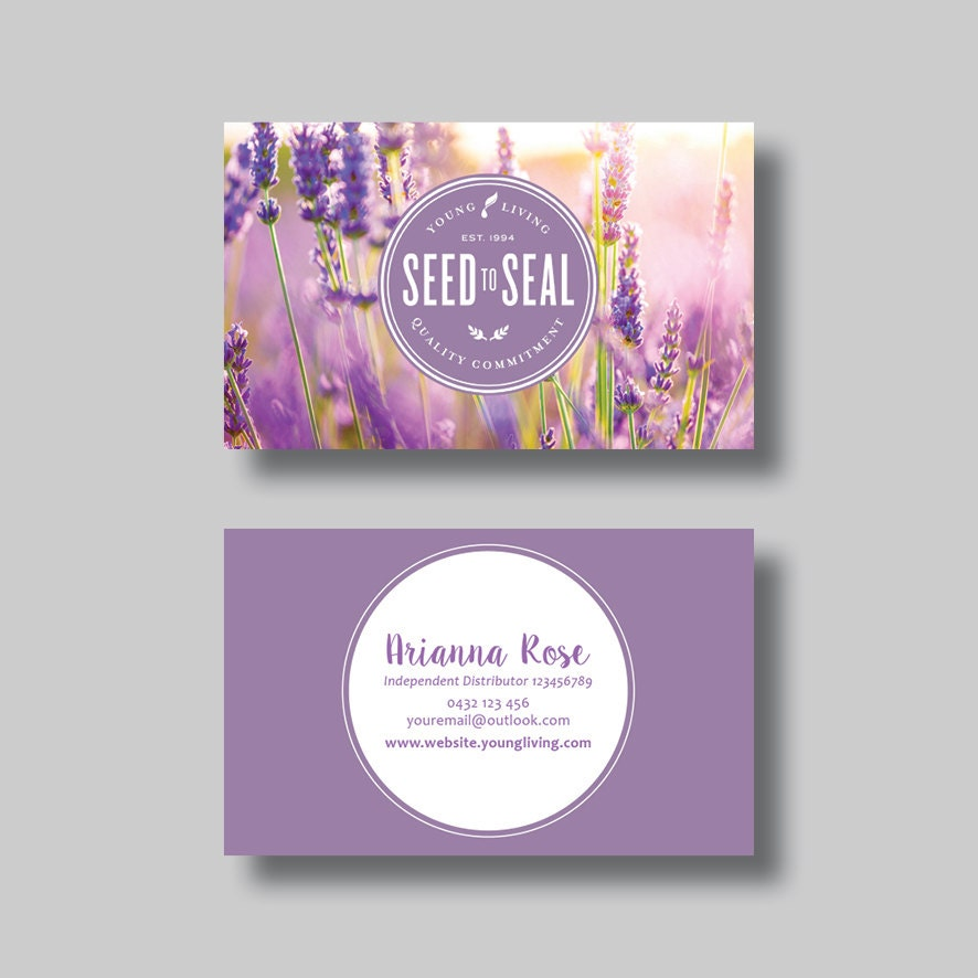 Young Living Business Card Template: Young Living Essential Oils Business Card Dot Digital