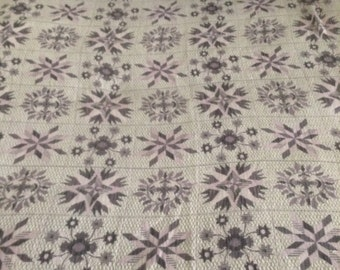 Beautiful Lavender & Grey Bates Coverlet/Bedspread/Made in The USA